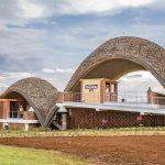 шатрообразные крыши крикетного стадиона в Руанде 3
