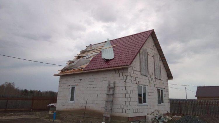 крыши и ураган
